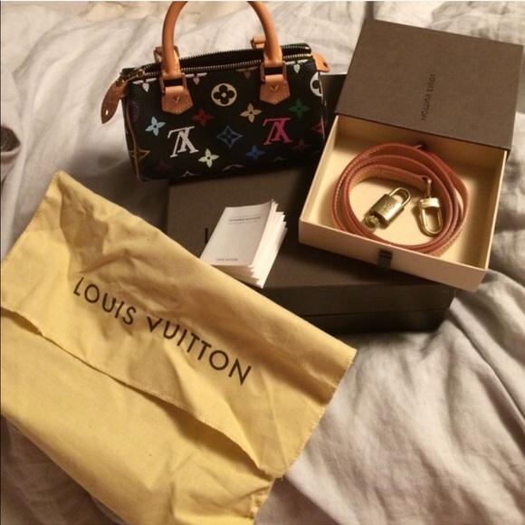 4062e3b12203 Louis Vuitton Handbags - Louis Vuitton Takashi Murakami Noir Mini Speedy